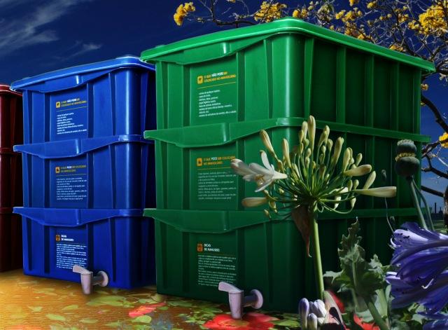 Elimine a sua produção de lixo orgânico adquirindo umacomposteira